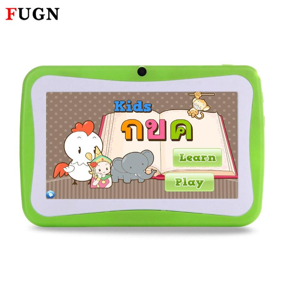 Fugn 7 дюймов Android Планшеты PC Дети Планшеты 4 ядра 8 г 16 ГБ дети ребенок учится рисунок Тетрадь с рисунком футляр 8 9.7