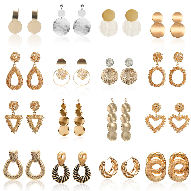 2019 Women's Earring Hollow Out Ball Zara Earrings Round Gold Color Geometric Statement Earrings Best Selling Products Wholesale