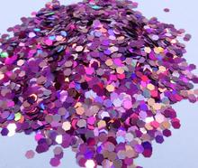 50gram 3*3 Holo Nail Glitter Sequins Flakes Holographic Hex CHUNKY GLITTER Art, Body FESTIVAL *PICK YOUR BAG*