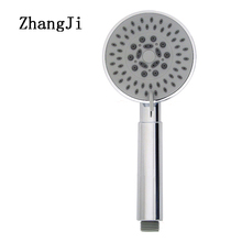 ZhangJi Five Fuction Silica Gel Holes Shower Head Water Saving With Chrome Showerhead Bathroom Sprinkler Nozzle Two Colors