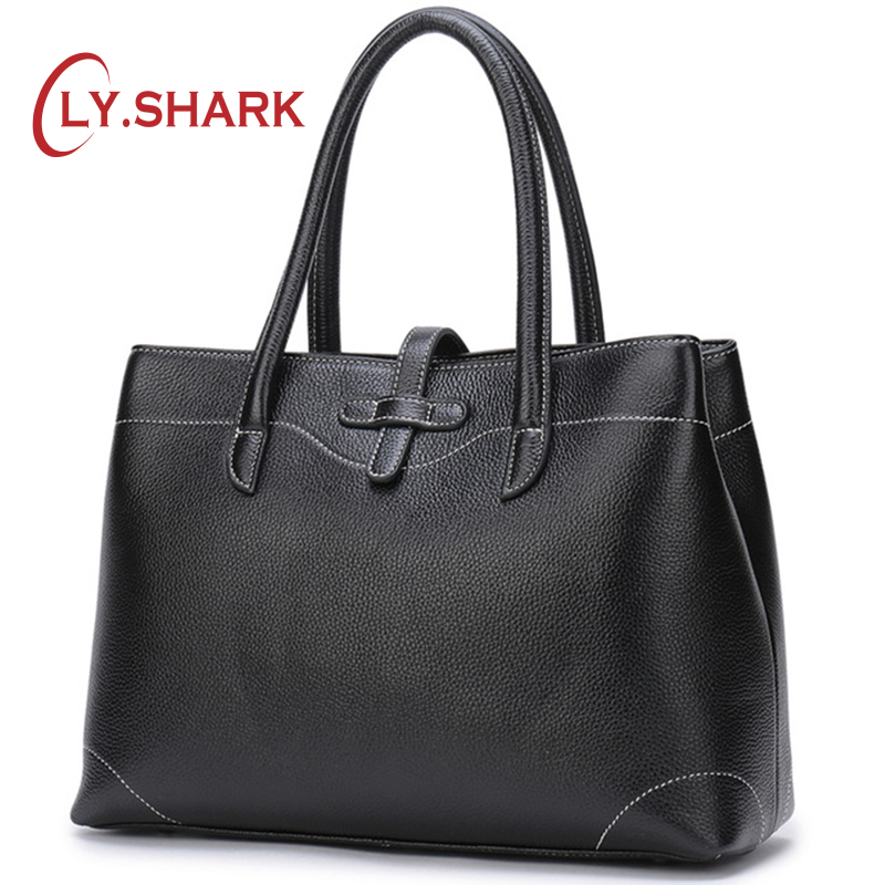 LY.SHARK Luxury Handbags Women Bags Designer Genuine Leather Bags For Women Hand bag Female Top-Handle Bag Ladies Tote 2018 elegant ladies hand bags luxury handbags women bags designer female tote bag good quality leather crossbody bags for women fn291