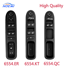 YAOPEI 6554.ER/6554.KT/6554.QC Electric Power Window Control Switch fit for Peugeot* 207 307 307CC 307SW 6554KT 6554QC 6554ER 6554 kt for peugeot 307 307cc 307sw black car auto driver side front window control switch
