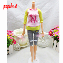 Doll Clothing Sets Fashionable Clothes Casual Dress Suits For Barbie Doll Best Gift Baby Toy