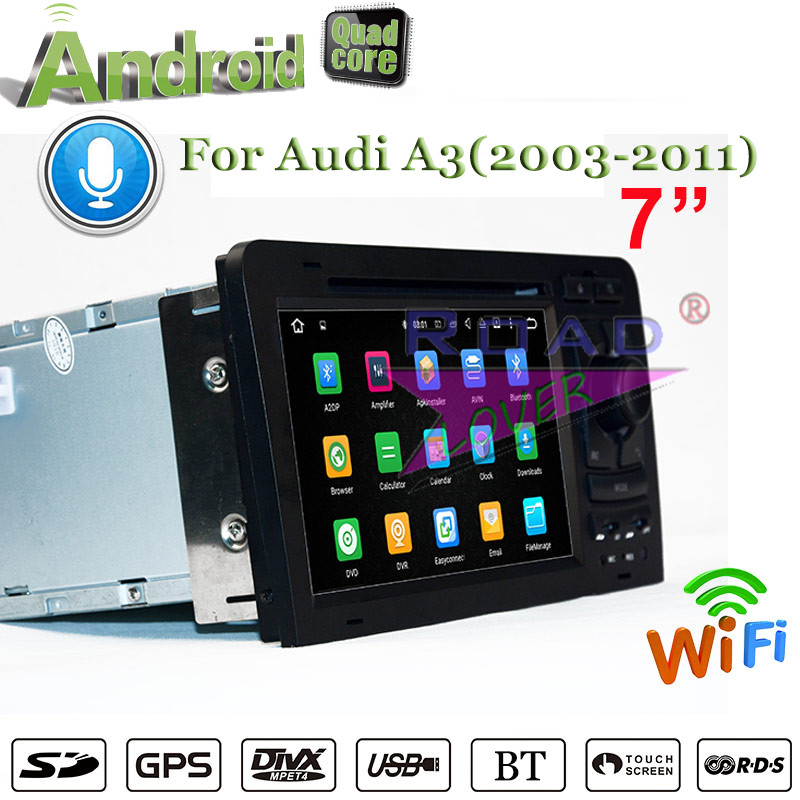 Roadlover 2G+16GB Android 7.1 Car DVD Player For Audi A3 (2003-2011) Stereo GPS Navigati ...
