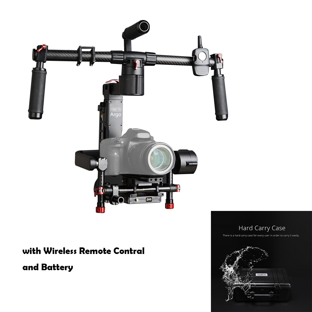 CAME-TV CAME-ARGO Cane ARGO 3 Axis Gimbal Portable Stabilize for Camera 32-bit Boards with Encoders + Wireless Remote+Hard Case