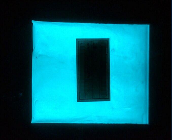 Fluorescente em pó de Maquiagem Brilham no Escuro Azul Verde