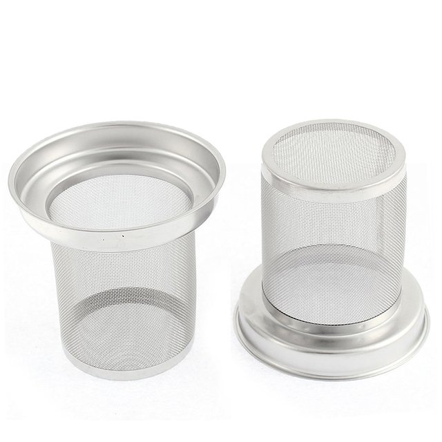 Hot Stainless Steel Round Loose Tea Infuser Filter Strainer Cup Mug 2 Pcs