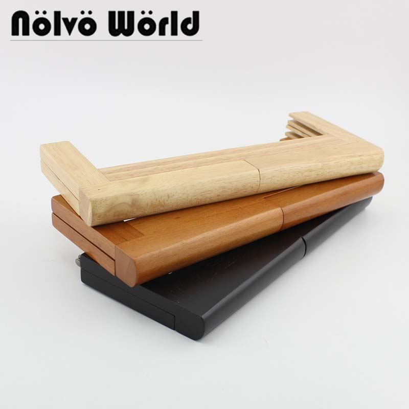 3 Colors 28X11cm Large Size Solid Wood Frame For DIY Wooden 11 Inch Plus Size Purse Frame Evening Bag Handle