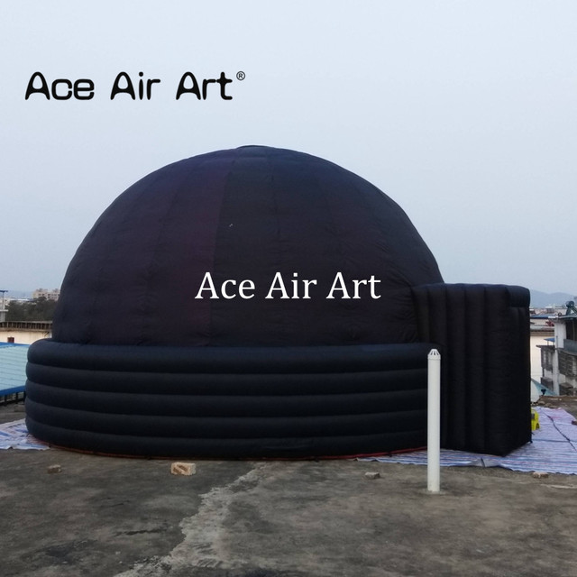US $1240 0   360 degree inflatable black planetarium,igloo theater/cinema  dome tent for Astronomy education or movie screen rentals-in Toy Tents from