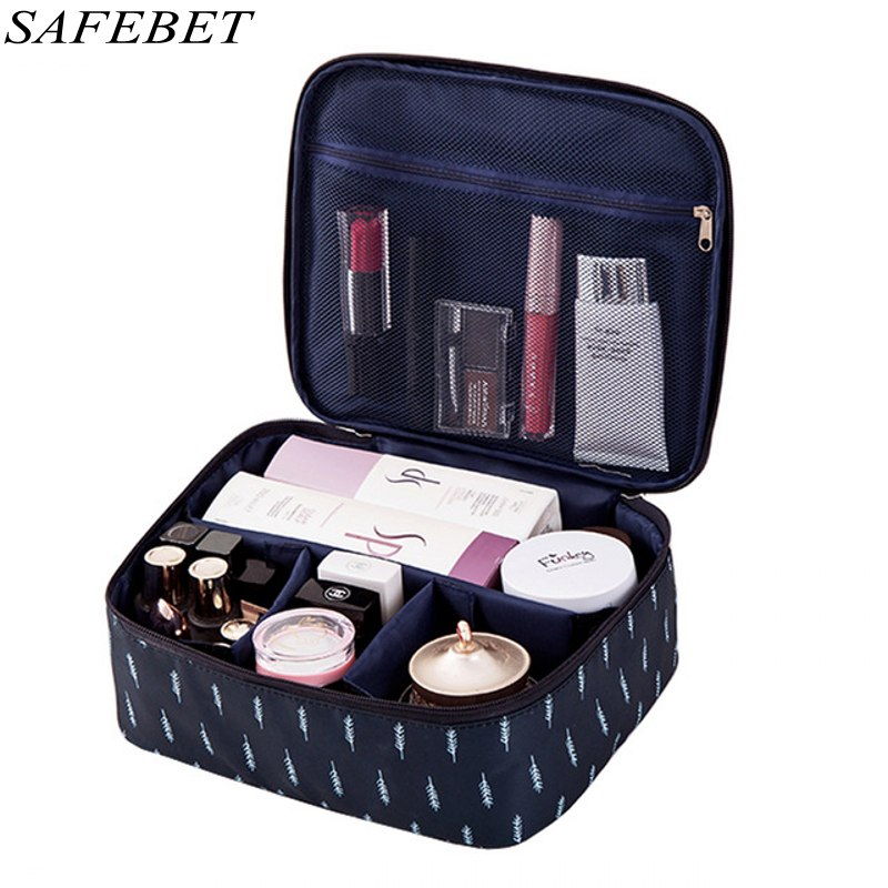 SAFEBET Brand Multifunction Organizer Big Capacity Waterproof Portable Cosmetic Bag Man Women Travel Necessity Beauty Makeup Bag