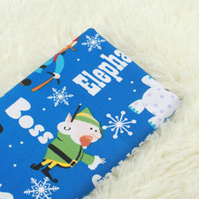 Cartoon Santa Printed Cotton Plain Fabric Christmas Style Pure Sewing  DIY Patchwork Cloth For Child