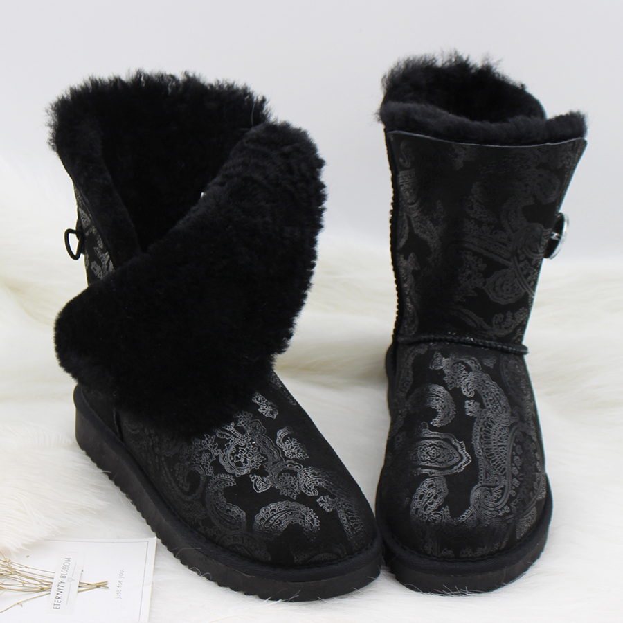 Free Shipping! 2018 Genuine Sheepskin Leather Snow Boots Australia Classic Women Boots Women Shoes Warm Winter Boots