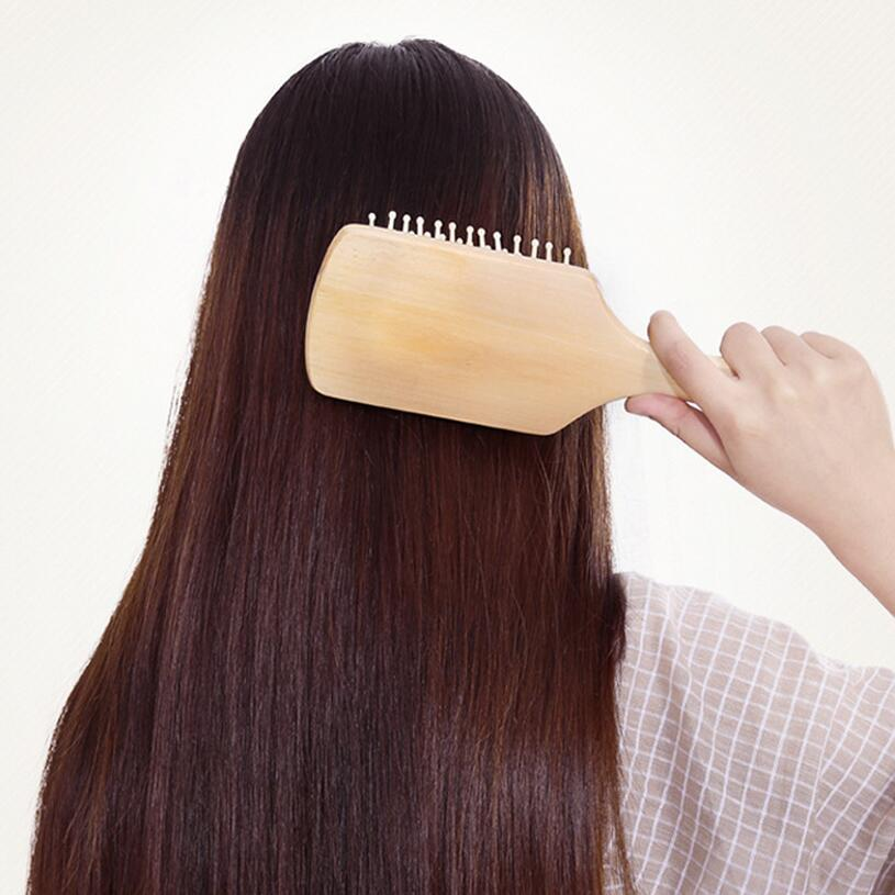 1pcs big massage comb hair care keeping in good health wood airbag comb (B297) high quality scalp massage comb 3 color mixed hair hair curls comb send elders the best gifts health care tools