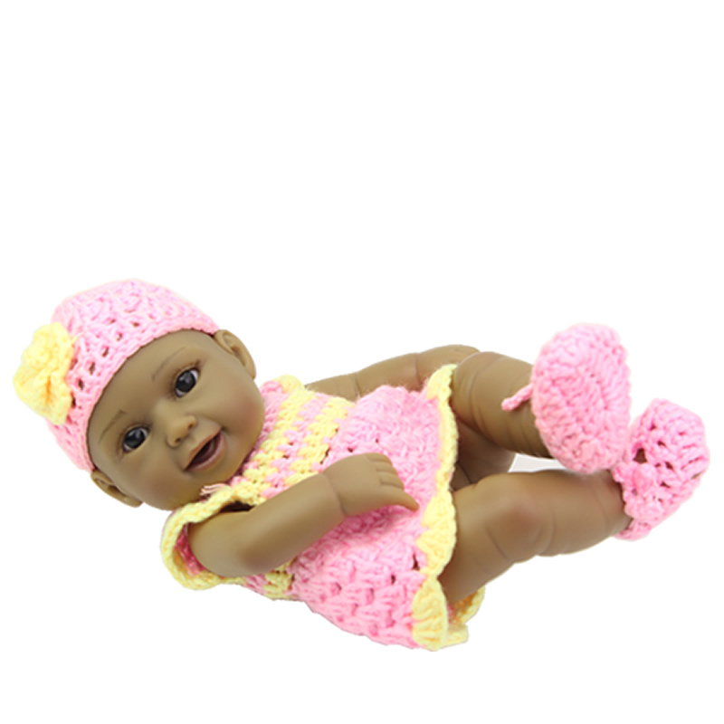 Full Body Soft Vinyl Reborn Realistic Baby Dolls 11 Inch 27 CM Lifelike Girl Babies Newborn Doll Toy Kids Birthday Xmas Gift fashion reborn baby doll girl full body silicone vinyl 58cm 23inch realistic newborn baby doll kids birthday christmas gift