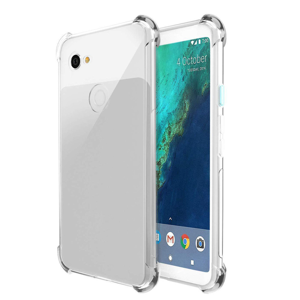 Shock Absorption Clear TPU Four Corners Drop Case Cover For Google Pixel 3 5.5In #1030