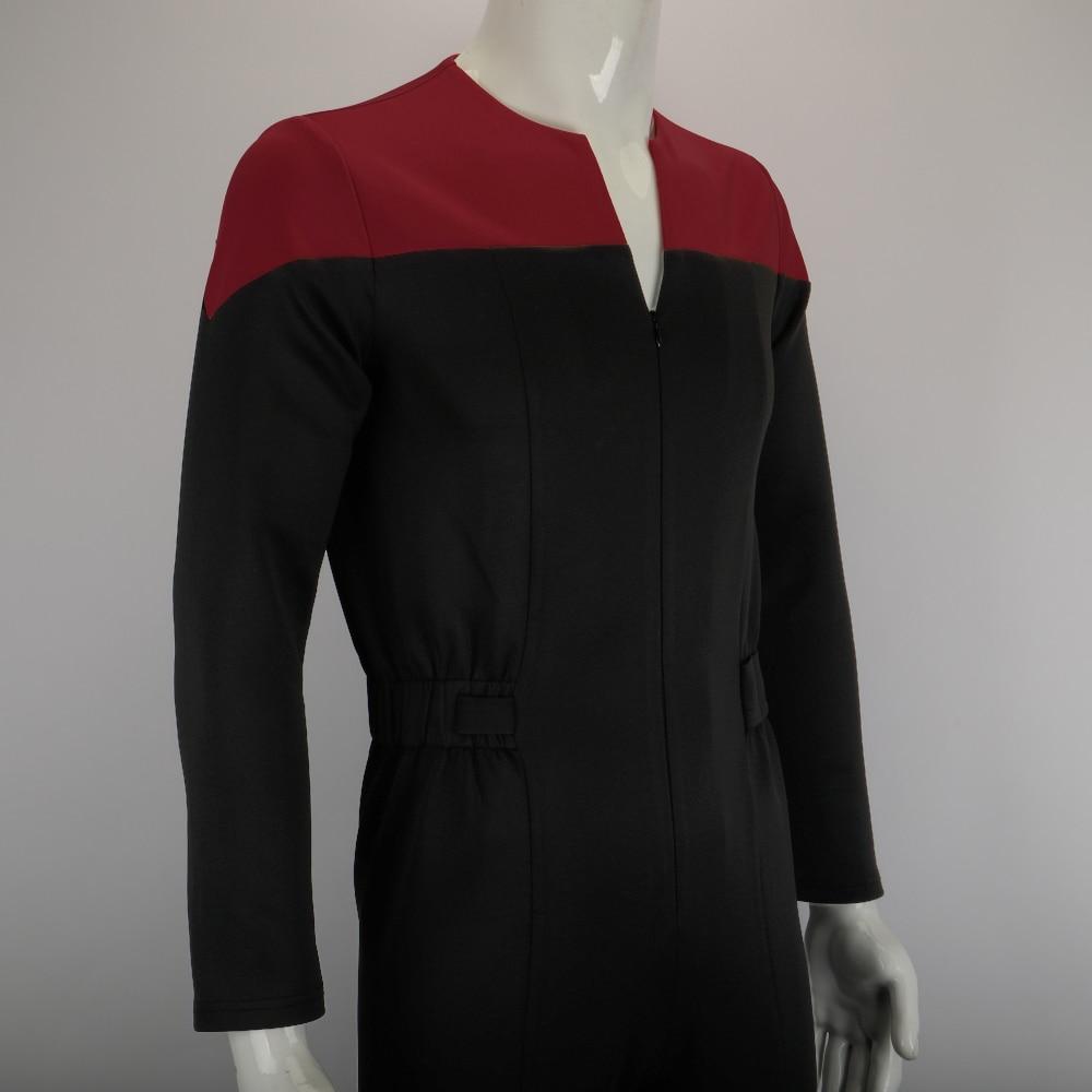 Star Trek Deep Space Nine Cosplay Commander Sisko Duty Uniform Jumpsuit Costume