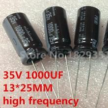 Оригинальный высококачественный электролитический конденсатор 35 в 1000 мкФ 35 в 1000 мкФ радиальный 13x25 мм 1000 мкФ 35 в (100 шт.) Ic...