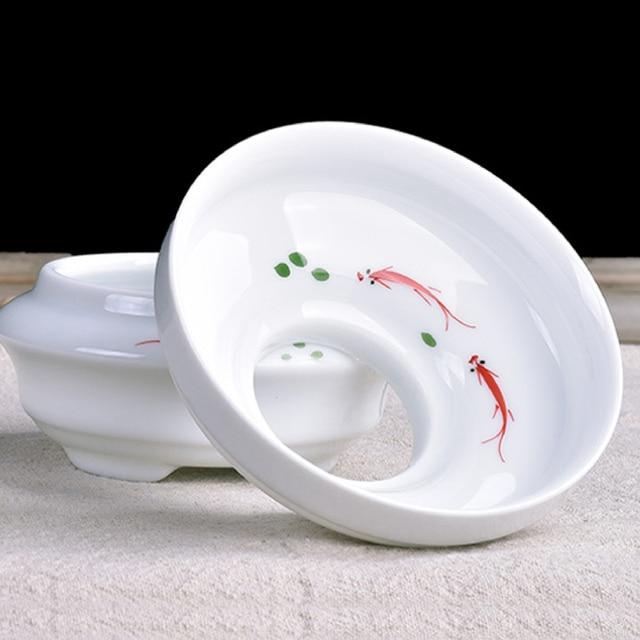 TANGPIN accessoires à thé chinois kung fu   En céramique, craineurs à thé, poisson peint à la main