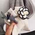 Comercio al por mayor 2 Par/lote Populares Otoño Invierno Calcetines BRICOLAJE Conejo Encantador Flores Exquisito Estilo Coreano Para Mujer Hecho A Mano
