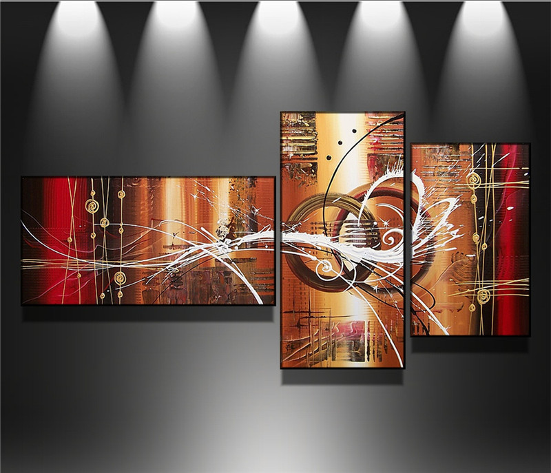 100% Hand painted Modern City Art Abstract Oil Painting On the Canvas Wall Picture 3 pcs/set Sofa Background Decoration no Frame