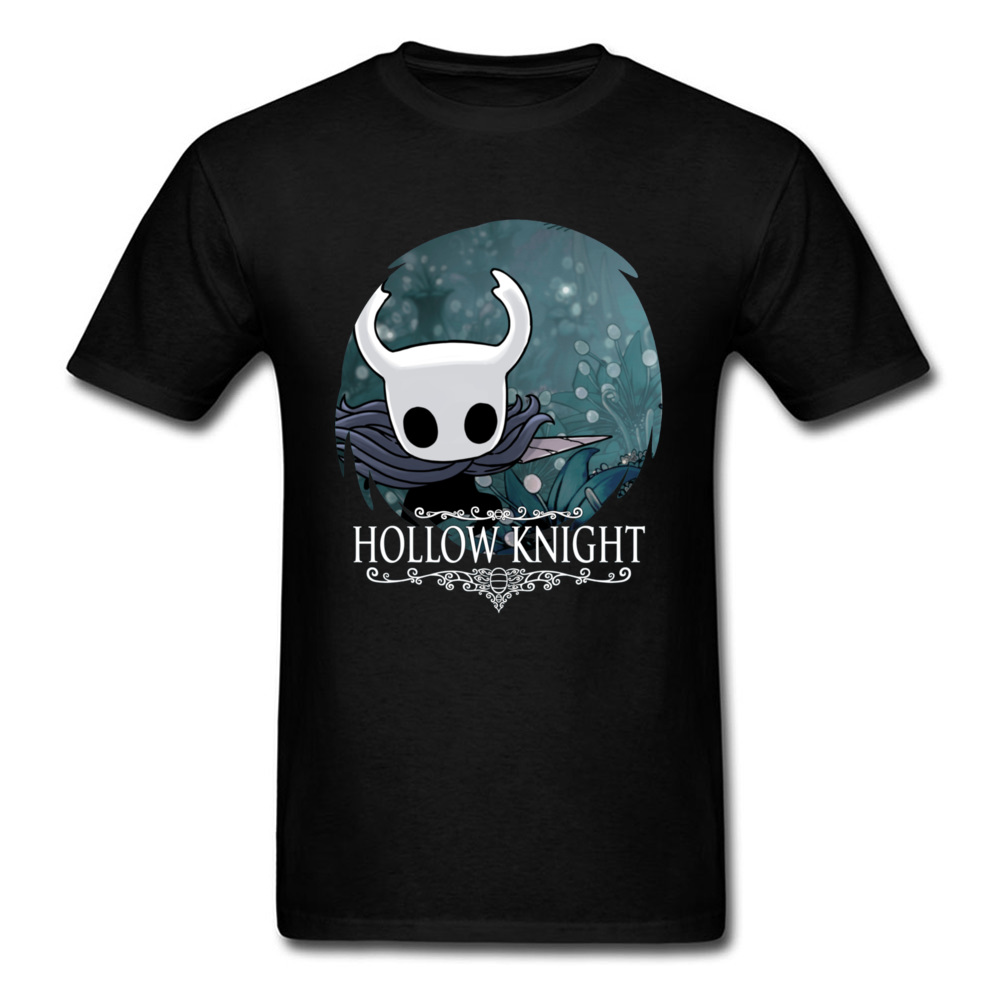Normal Hollow Knight 20351 T Shirts Funky Autumn Short Sleeve O-Neck T Shirt All Cotton Men's Fashionable Tee Shirt Hollow Knight 20351 black