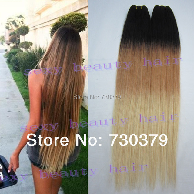 Hot Ombre Hair Extensions 3 Three Tone Color 1b30613