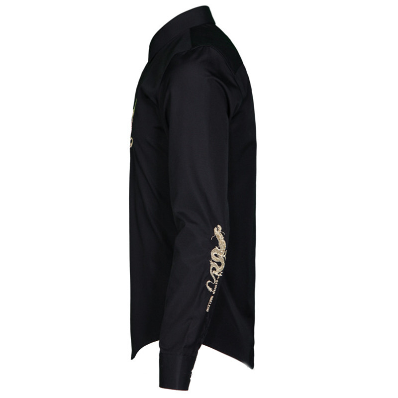 M black Arrivée De Mâle Hommes G16175 White Mode Célèbre Marée Marque Haute Brodé Casual 4xl Personnalité Qualité Coton Dragon Taille G16175 La Plus Nouvelle UWCqnBwdC
