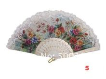 все цены на 100pcs/lot  white  lolita lace spanish hand Fan dance Elegant Fans wedding event gift party & festival show 12 Design онлайн