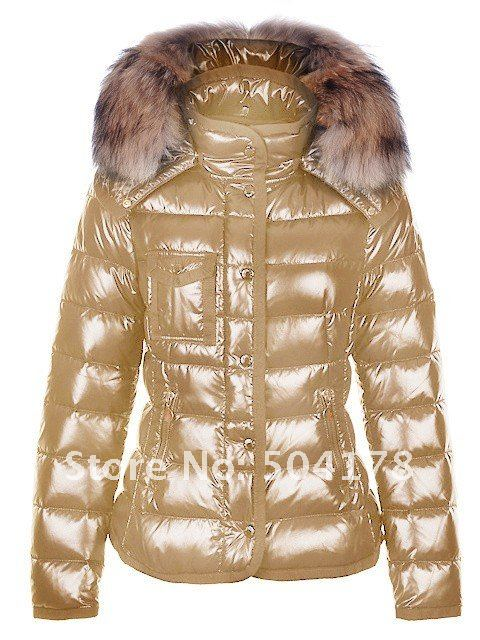 Free Shopping Ladies Down Coat Women's coat fur Lady short Jacket