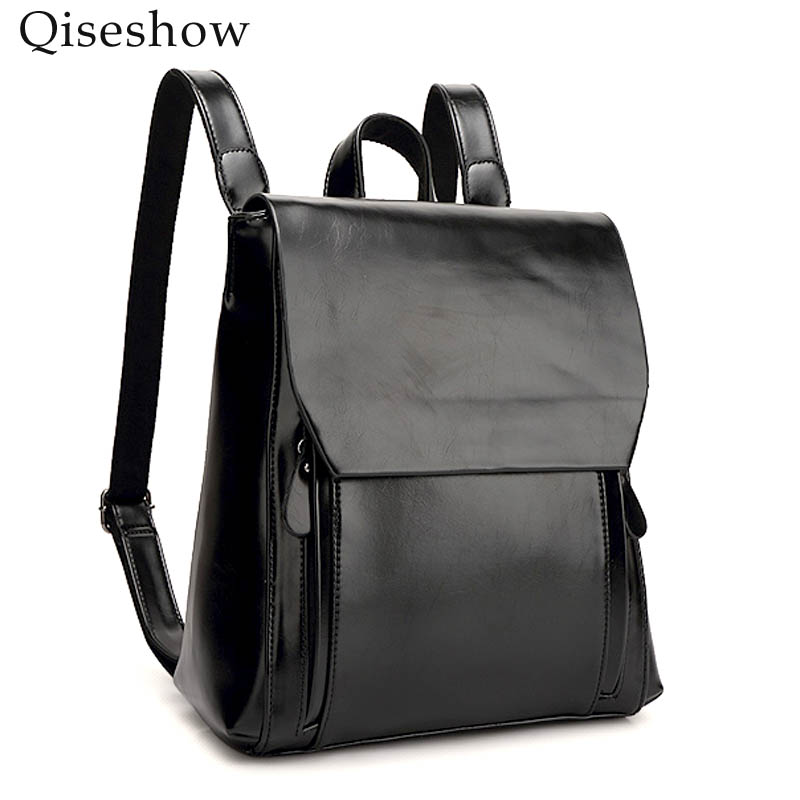 New 2017 Genuine Leather Women Backpack Vintage casual bags female shoulder Ladies Strap Laptop Bag Daily