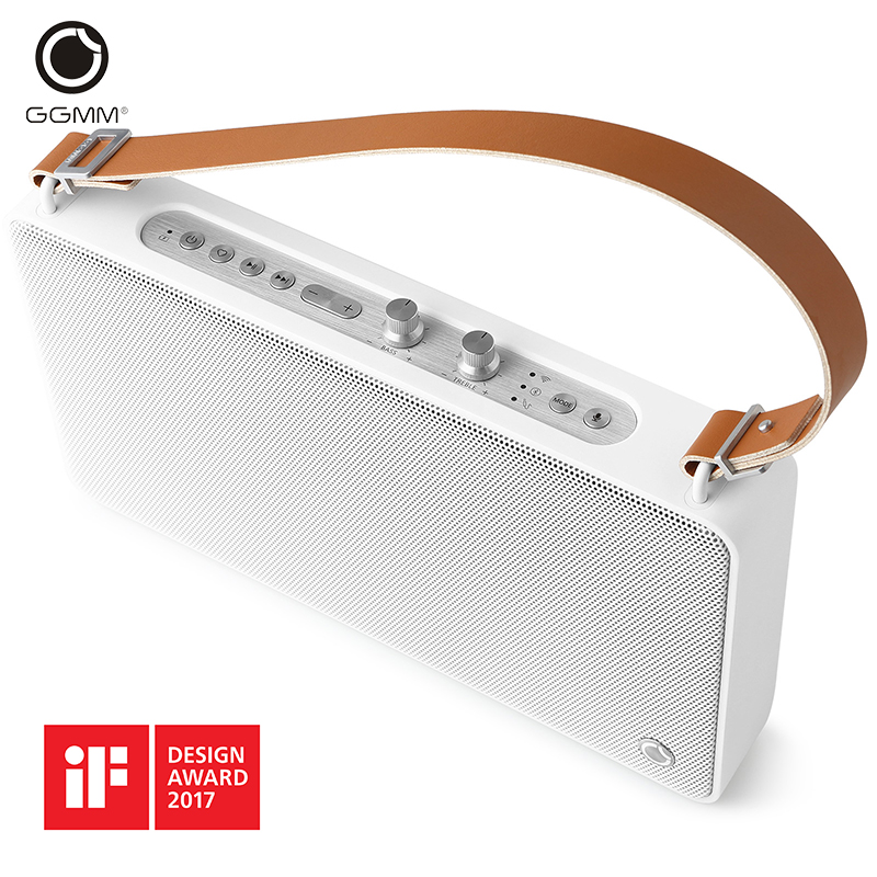 imágenes para GGMM E5 Wireless WiFi Bluetooth Portable Speaker Outdoor Multi-room DLNA HiFi Stereo Sound Handsfree Speakers 3D Music Player