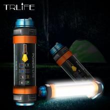 цена на USB LED Camping Lantern 7800mAH Tent Light Lamp IP68 Waterproof Rechargeable Magnetic Hiking Working Fishing SOS Flashlight