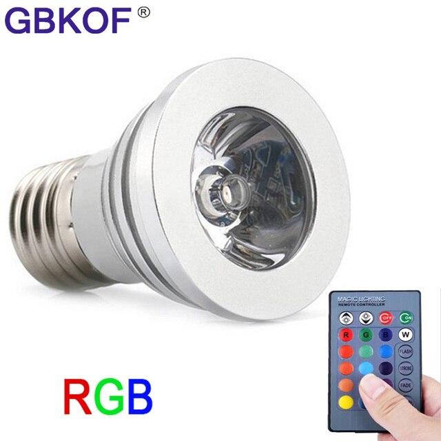16 Rgb Mr16 Ampoule Lumières E27 De Gu10 Led 3 W Couleur E14 vgYyIf7mb6
