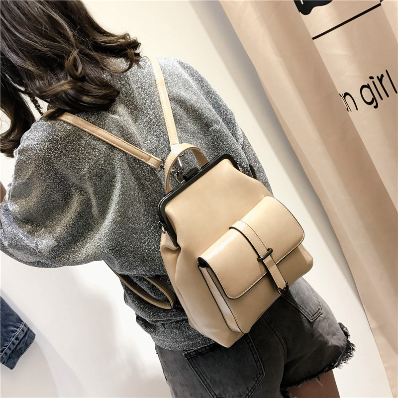 Miyahouse Fashion Casual Travel Woman Backpack Simple Solid Color Backpack For Female High Quality Pu Leather Woman Rucksack #3