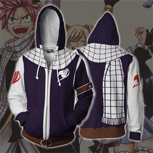 Fairy Tail Natsu 3D Print Hoodies Sweatshirts Cosplay Costumes Hooded Casual Coat Jacket