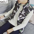 Autumn and winter camouflage vest new  Male  thickening sleeveless leisure increase cotton vest vest jacket