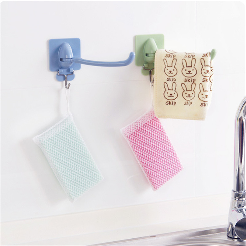 1pc Multifuction Hand Towel Hook Storage Holder Bathroom Kitchen Rotary Organizer Wall-Mounted Hanging Shower Cloth Rack Shelf
