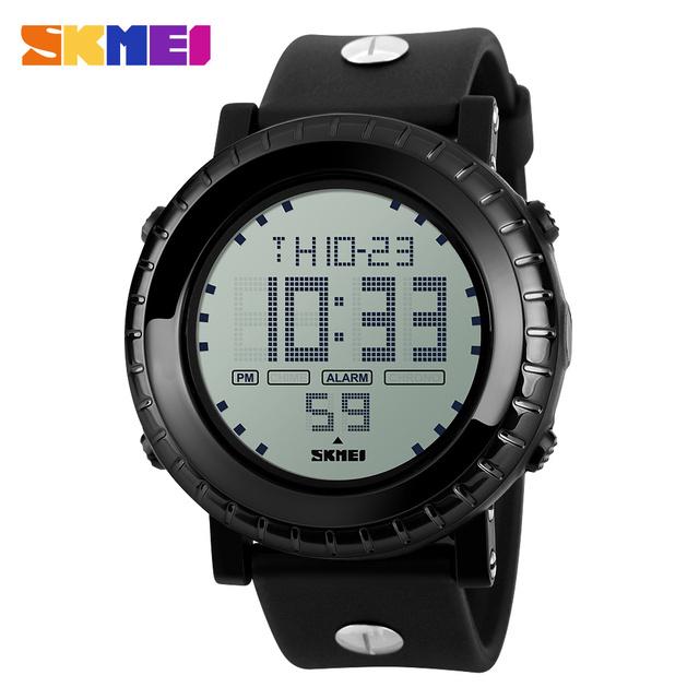 Skmei além de moda de nova homens impermeável relógio de esporte Digital LED relógio de pulso relógio Casual Masculino