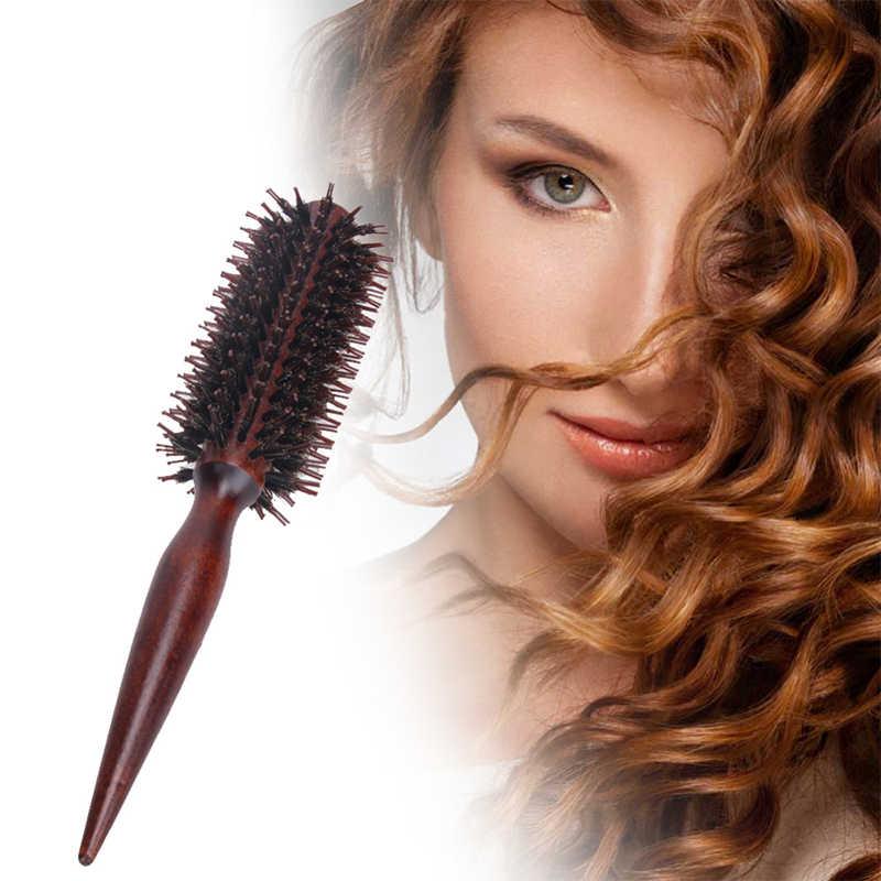 Profesional Bulat Salon Rambut Gaya Suhu Perubahan Warna Radial Hairdressing Barel Atlet Curling Putra Sikat Sisir