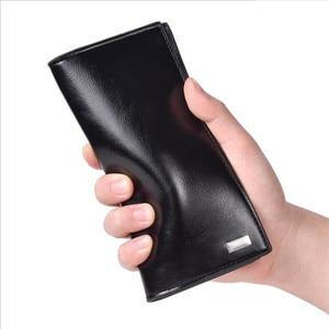 Image 4 - DEABOLAR hommes portefeuilles porte carte en cuir PU mâle portefeuille longue conception qualité passeport couverture mode décontracté hommes sac à main en vente