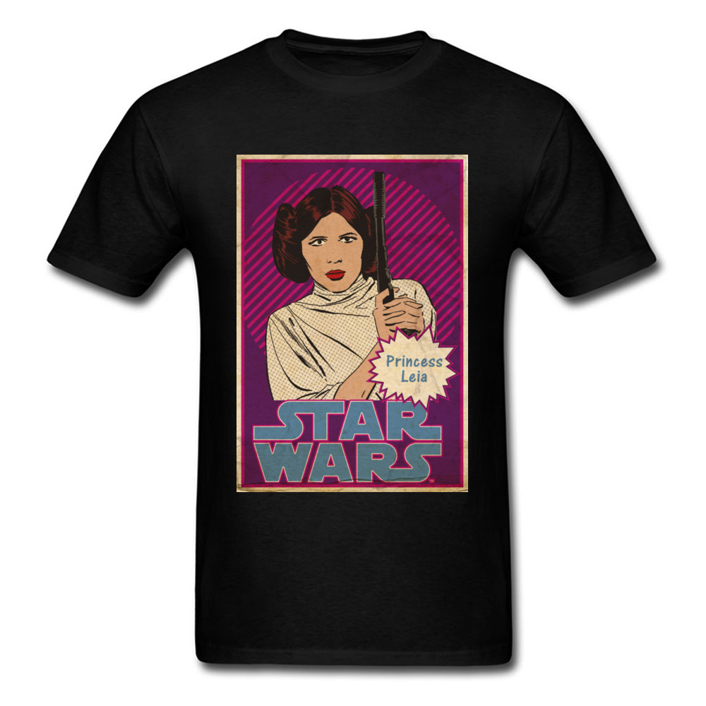 Star Wars 3 Leia Princess Tshirt Sex Perfect Retro Style Mens Vantage Cotton T-Shirts Movie Theme Poster Men T Shirt Wholaesale