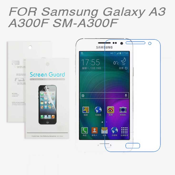 For Samsung Galaxy A3 A300F SM-A300F,3PCS/lot New 2015 High Clear LCD Screen Protector Film Screen Protective Film Screen Guard