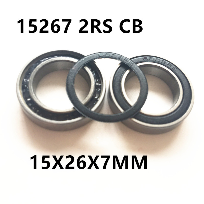 Free shipping 15267-2RS hybrid ceramic ball bearing 15x26x7mm 15267 2RS bike wheels bottom bracket repair bearing 15267 2rs 15 26 7mm 15267rs si3n4 hybrid ceramic wheel hub bearing
