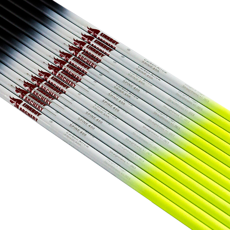 Outdoor Sports Archery ID6.2mm SP300 340 400 500 600 Carbon Arrow Shafts Bow Hunting 60PCS Archery