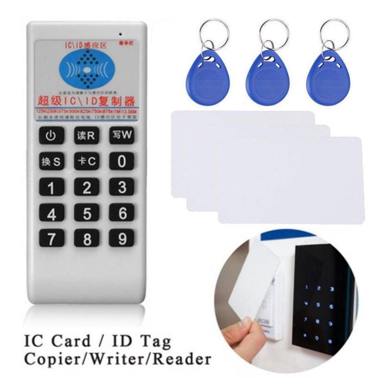De 125 Khz-13,56 MHZ copiadora duplicador clonador RFID NFC ID/lector de tarjetas IC y escritor + 3 piezas 125 KHZ + 3 piezas 13,56 MHZ tarjetas
