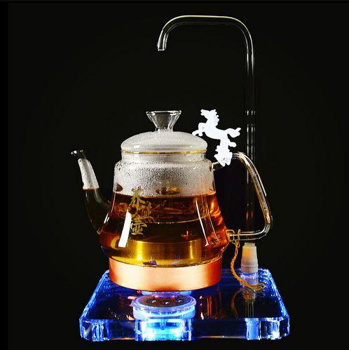 Chaleira elétrica chá pote de saúde totalmente automático que faz a máquina de Cristal multi-função de vidro grosso elétrica Proteção Contra Superaquecimento