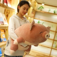 80 cm Big Size Soft Pink Pig Plush Toy Soft Stuffed Cute Animal Pig Lovely Dolls for Kids Appease Toy Baby's Room Decoration