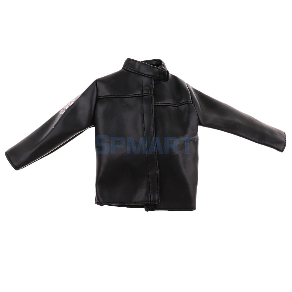 1/6 Scale Black PU Leather Male Jacket Coat Clothes Men Clothing for 12'' Hot Toys/ Phicen Action Figure Toys Accessories exit wound