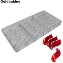 Goldbaking S Molde de Chocolate, molde de Chocolate de policarbonato, nuevo diseño, moldes para hornear