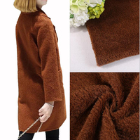 New Wool Woolen Flannel Fabric Fashion Dress Fabric Wool Coat Double Sided DIY Cashmere Cloth For
